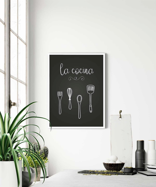 La-Cocina-Poster-White-Framed-Duwart