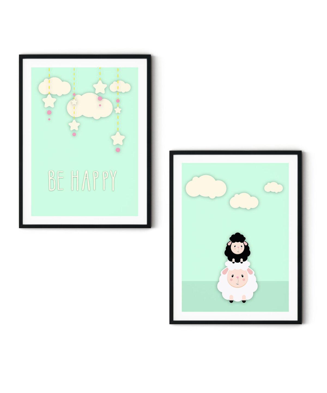 Mama-&-Baby-Sheep-Poster-Set-White-Background