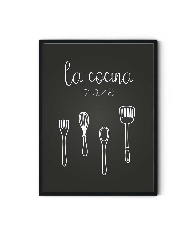 la-cocina-Poster-Black-Framed-Duwart