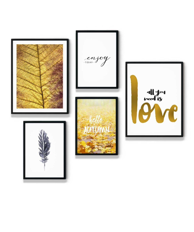Golden-Love-Poster-Set-White-Background