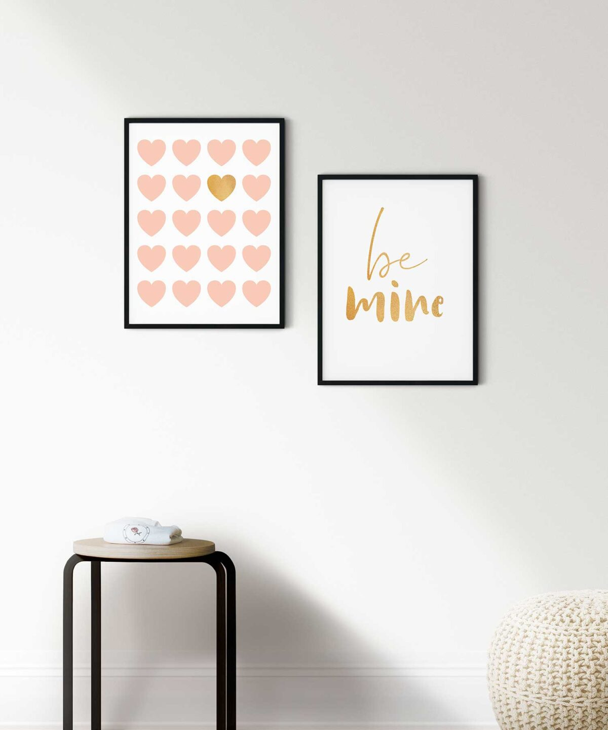 Be-Mine-Poster-Set-on-Wall-Black-Framed-Duwart