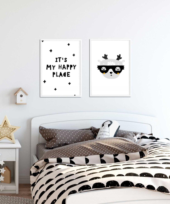 Cute-Deer-İskandinav-Tarzı-Çocuk-Odası-Poster-Seti-Duwart