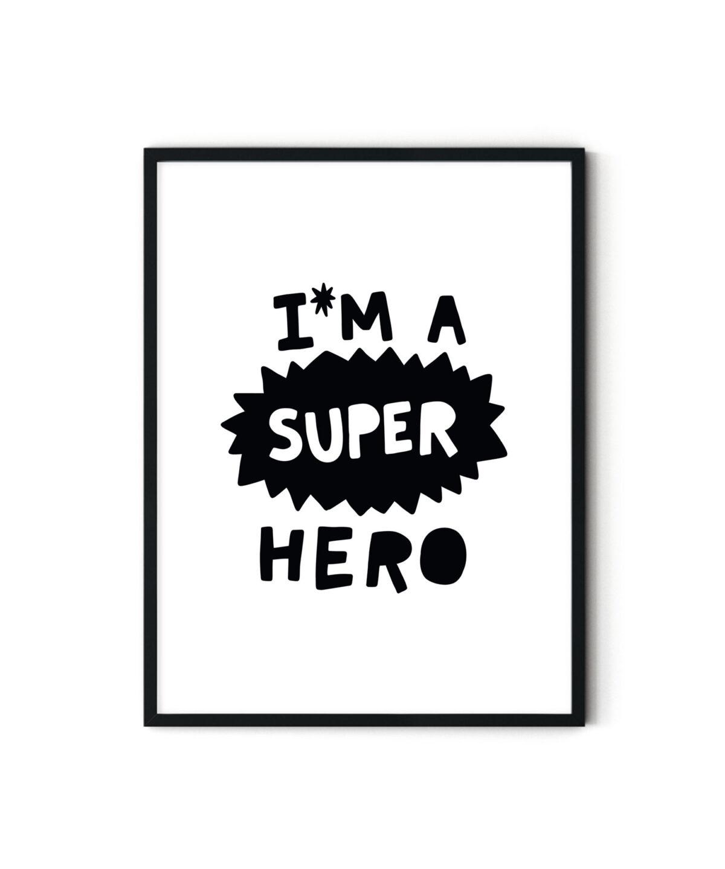 Super Hero Çocuk Odası Posteri