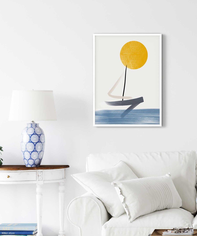 The-Boat-Poster-on-Livingroom-Wall-White-Framed-Duwart