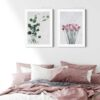 Eucalyptus-Poster-Set-on-Wall-White-Frame-Duwart-NEW
