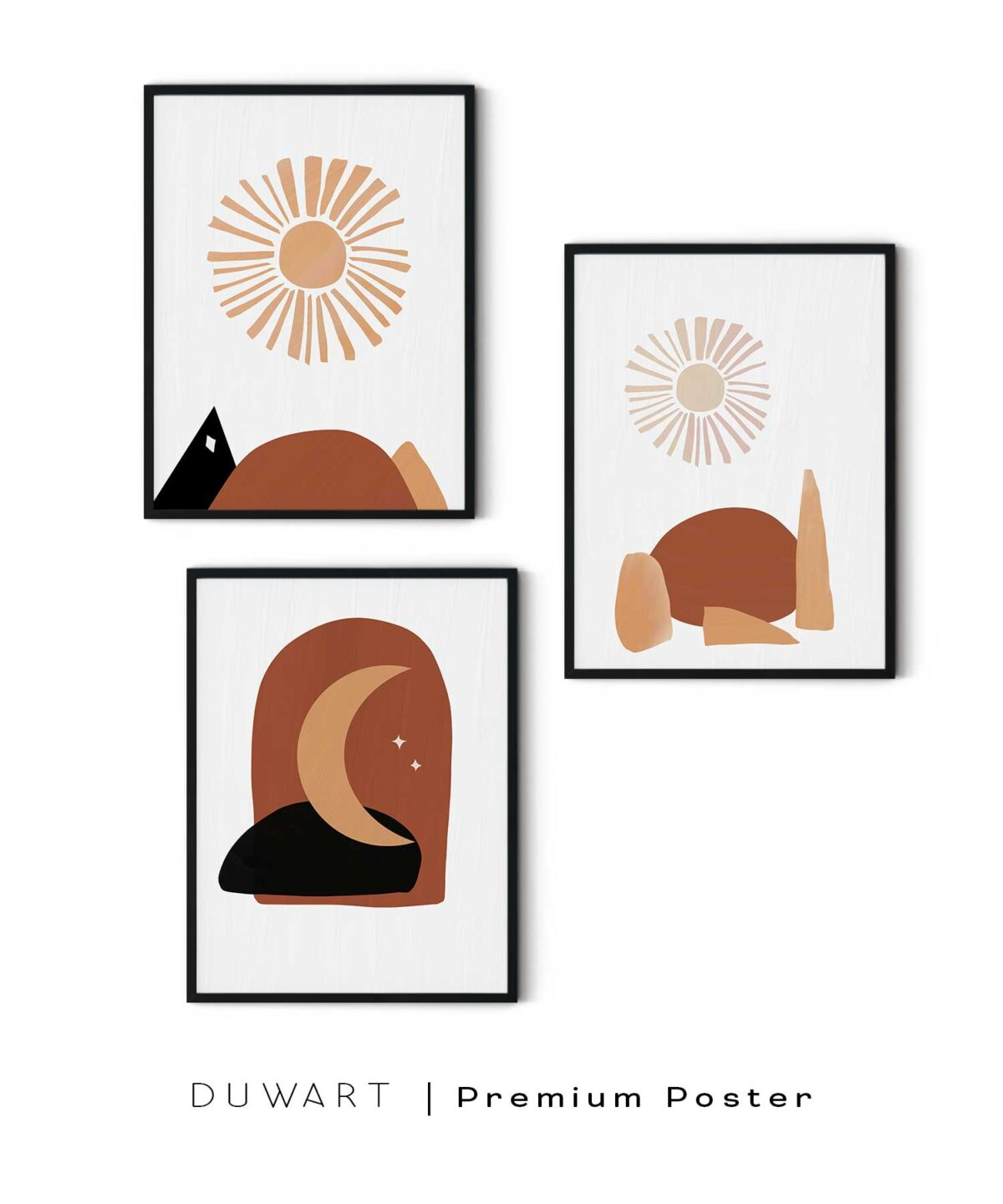 Abstract-Brown-Poster-White-Background-Duwart