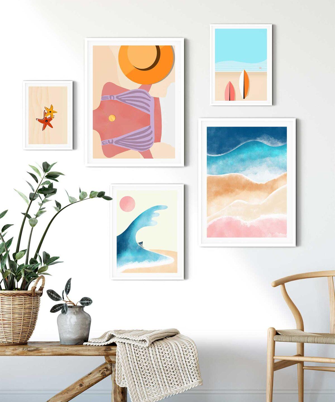 Beach-Surf-Poster-Set-Duwart-NEW