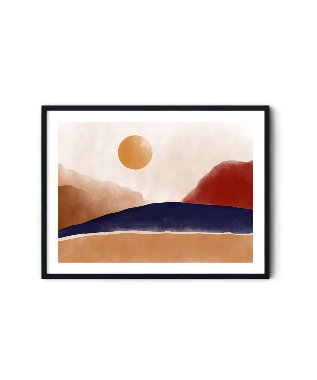 Terracotta-Tones Soyut Poster