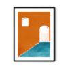 Orange-Wall-Soyut-Tablo-Poster