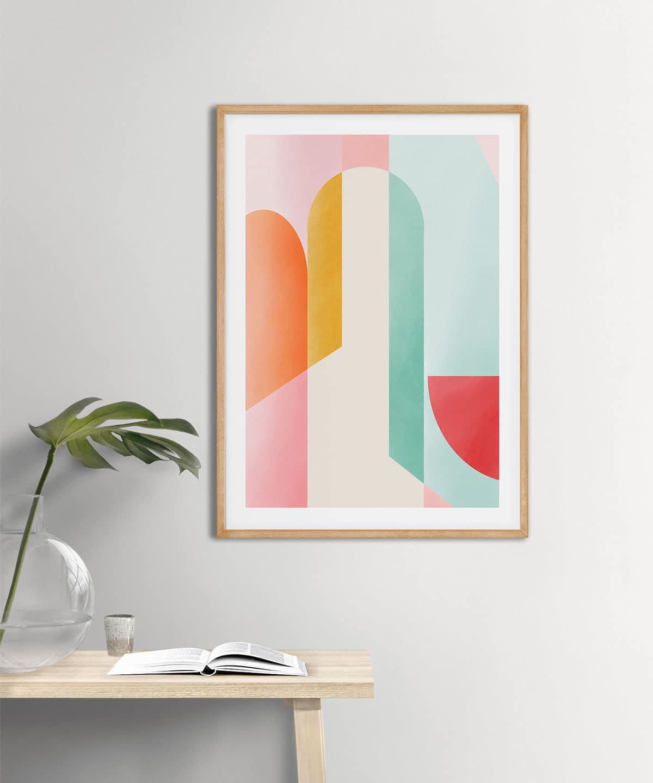 Soften-Poster-on-Wall-Wooden-Frame-Duwart