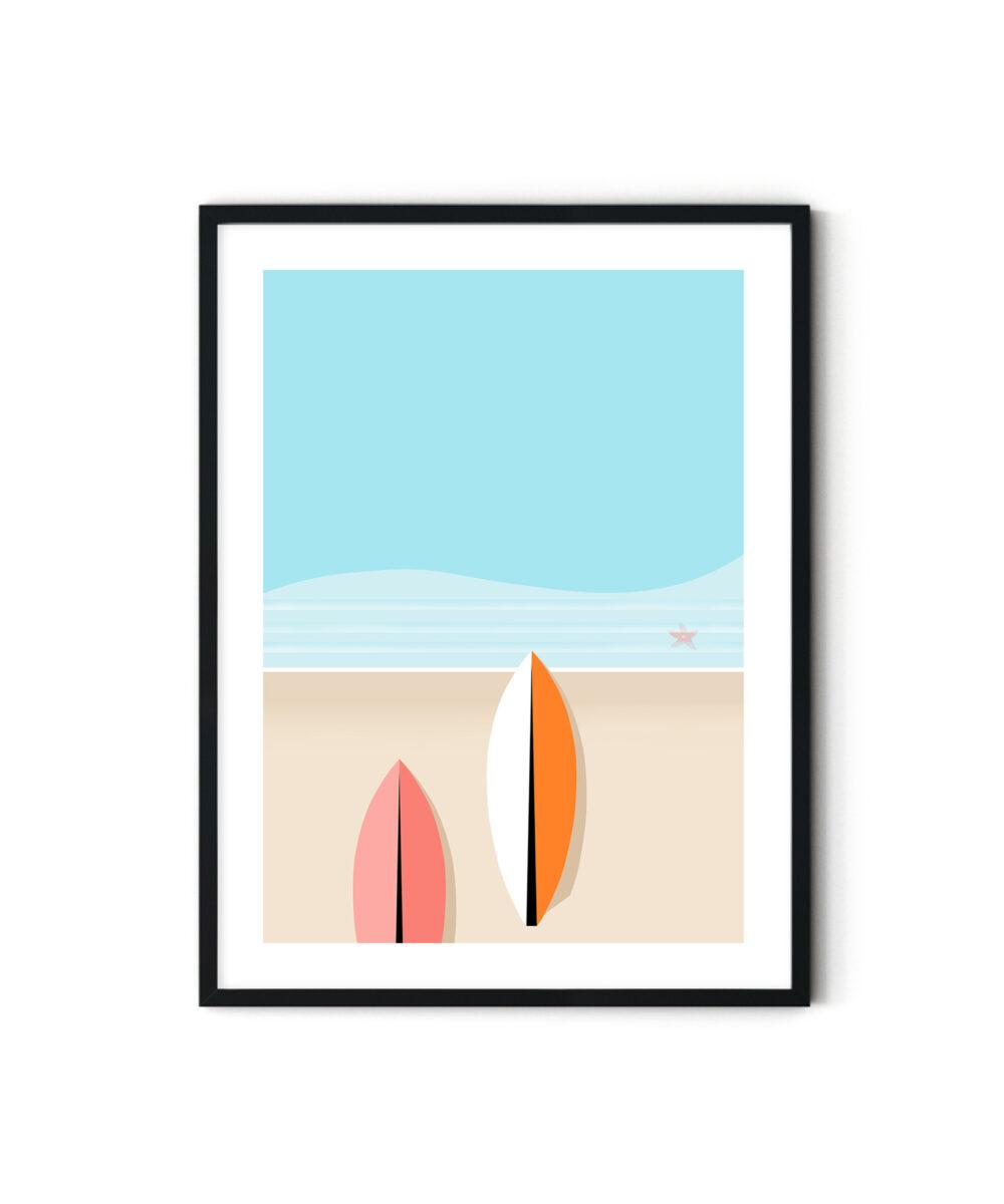 Surfboards-Soyut-Poster