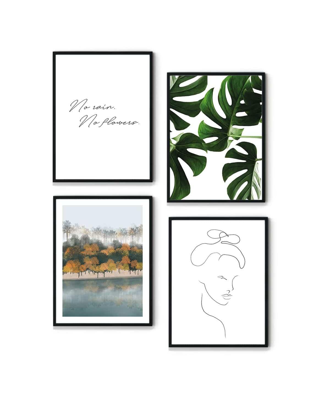 Forest-Lake-Poster-Set-WB-Duwart