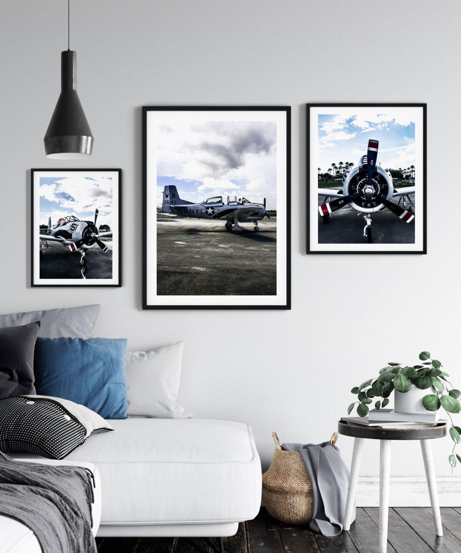 Vintage-Aircraft-Poster Seti