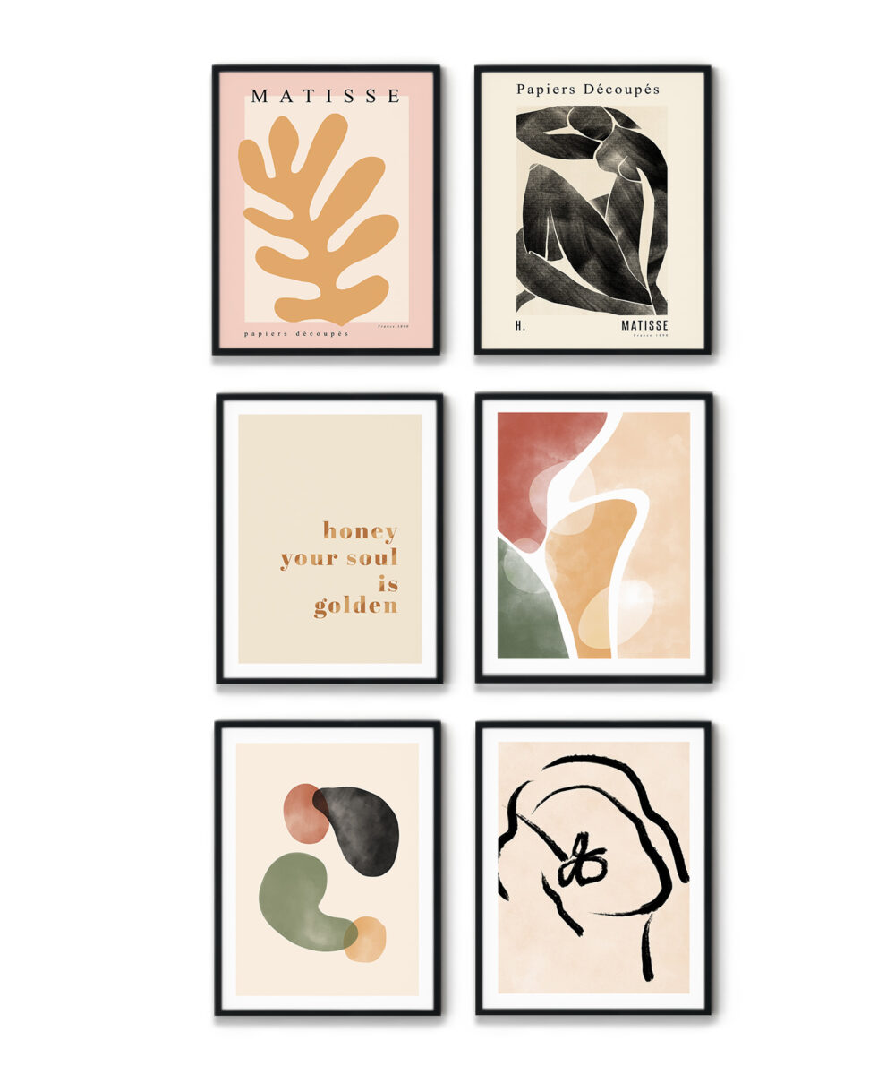 Soyut ve illüstrasyon temalı Fall Colors Poster Set