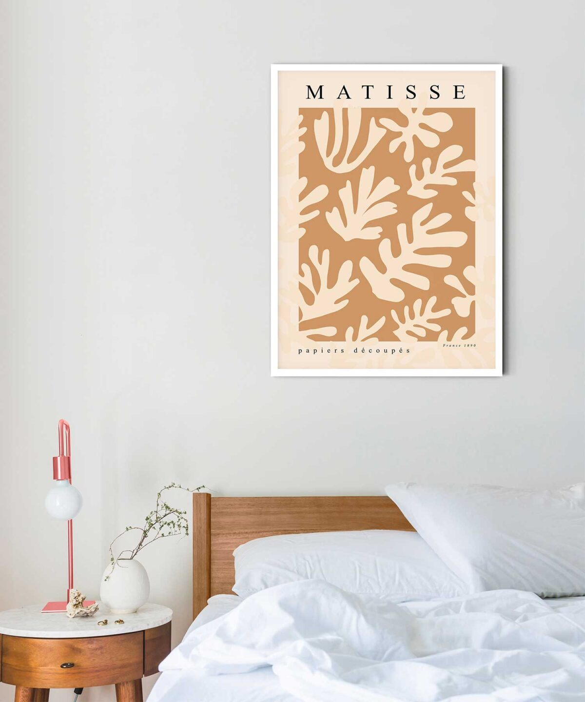 Matisse-inspired-Floral-No-1-Poster-on-Bedroom-Wall-Duwart