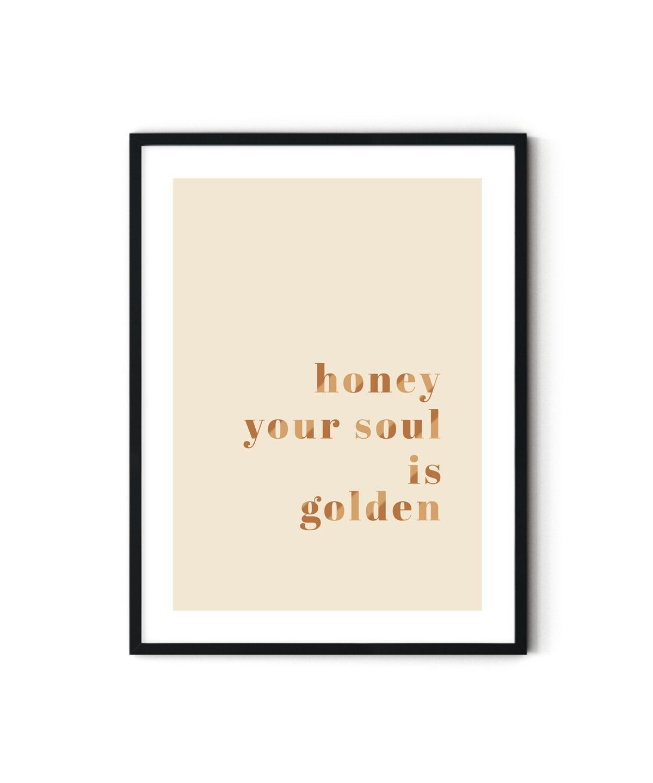 """""""Hayatım senin ruhun bir altın"""" motto poster"""