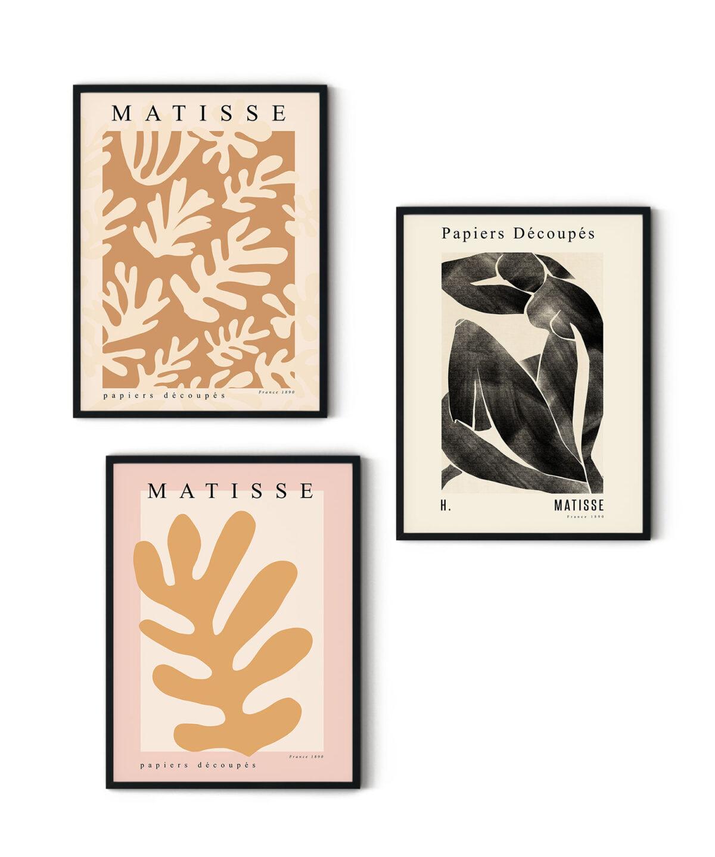 Henri Matisse Eserlerinden ilham alarak tasarladığımız Poster Seti