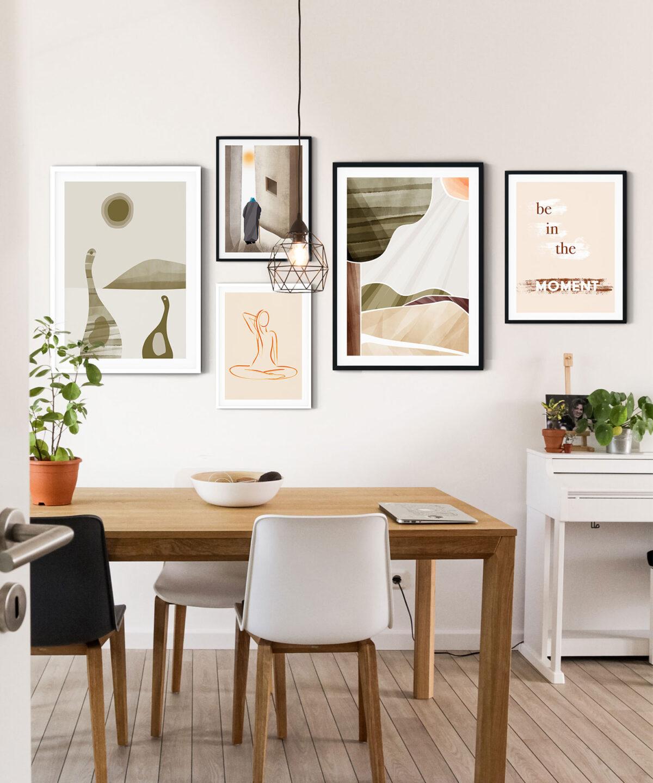 The Moment İskandinav Tarzı Modern Poster Seti