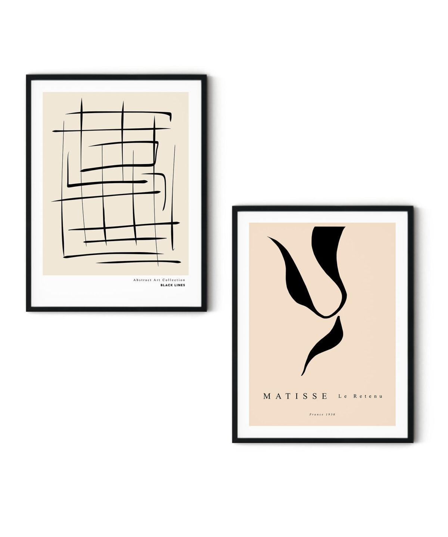 Black Lines Poster Set