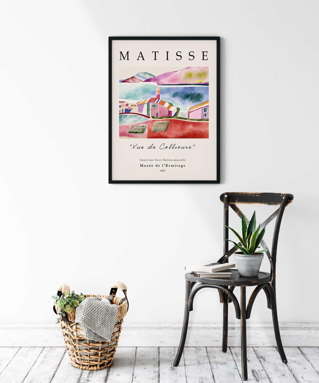 Vue-De-Collioure-Poster-No-1-on-Wall-Black-Framed-Duwart