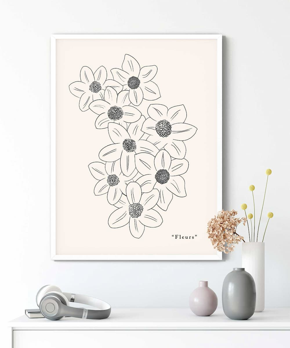 Blooming-Poster-on-Wall-Duwart