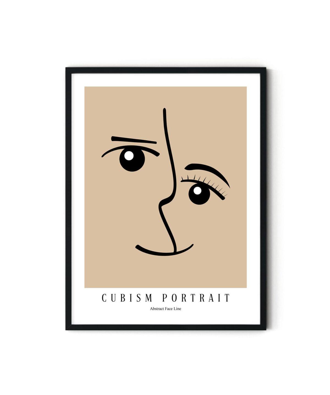 Cubism Portriat Poster Duwart