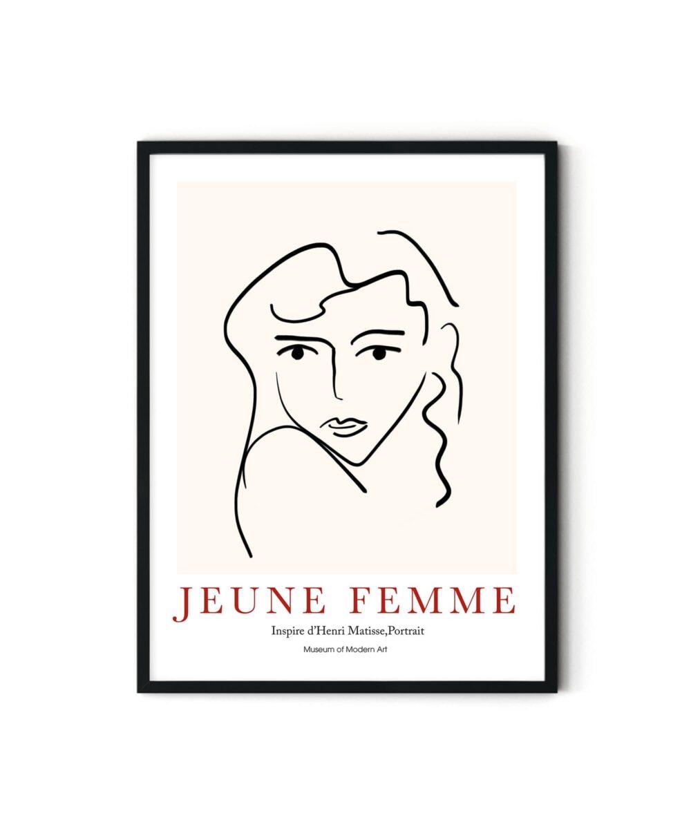 Jeune Femme Poster Duwart