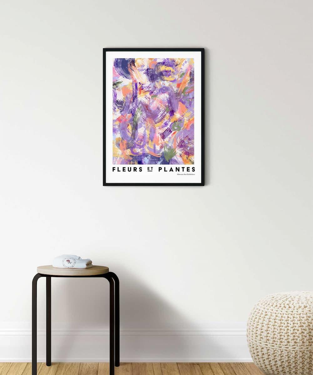Plantes-Poster-Black-Framed-on-Room-Wall-Duwart