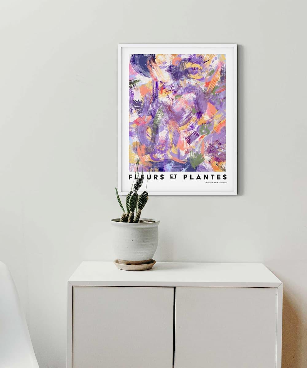 Plantes-Poster-on-Wall-White-Frame-Duwart