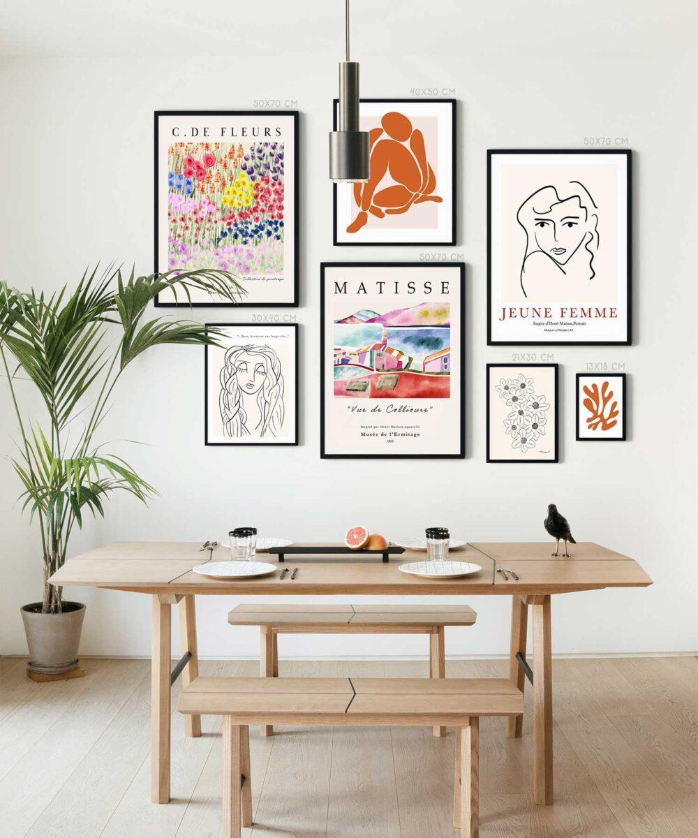 Printemps-Poster-Set-Black-Framed-Duwart-NEW