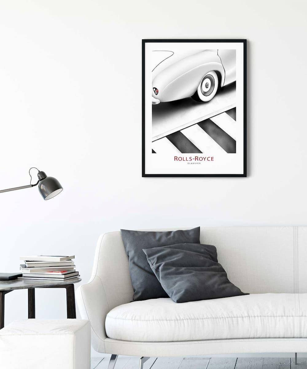 Rolls-Royce-Poster-on-Livingroom-Wall-Black-Framed-Duwart