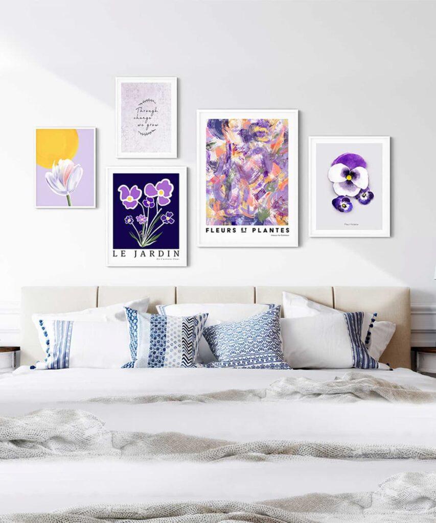 Violette-Poster-Set-in-Bedroom-Wall-Duwart