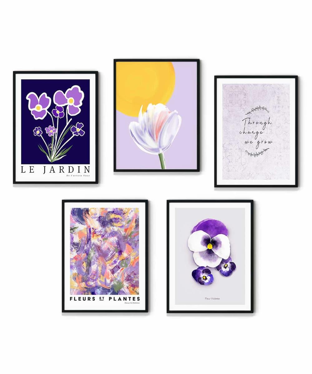 Violette-Poster-Set-on-White-Wall-Duwart