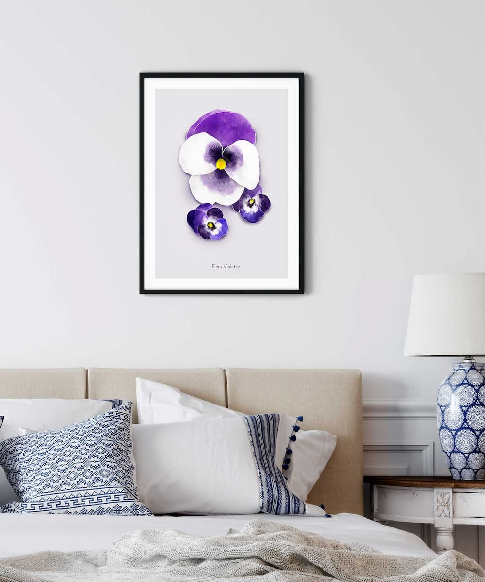 Violette-Poster-on-Wall-Black-Frame-Duwart