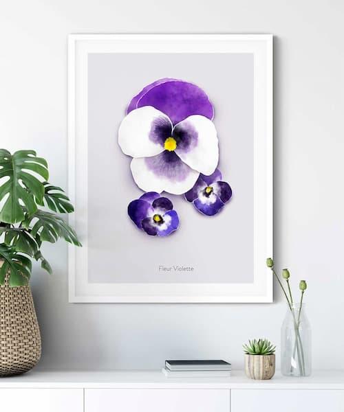 Violette-Poster-on-Wall-White-Frame-Duwart Mobile