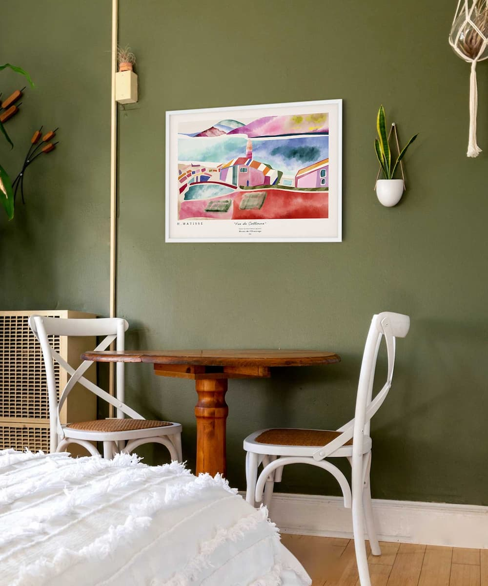 Vue-De-Collioure-Poster-No-2-White Frame Duwart
