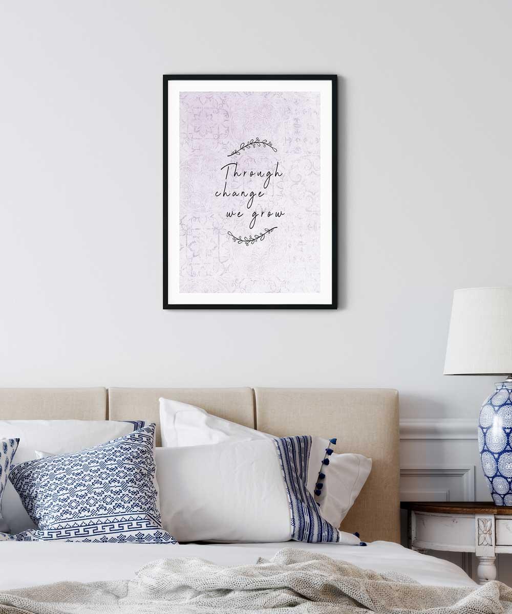 We-Grow-Poster-on-Bedroom-Wall-Black-Frame-Duwart