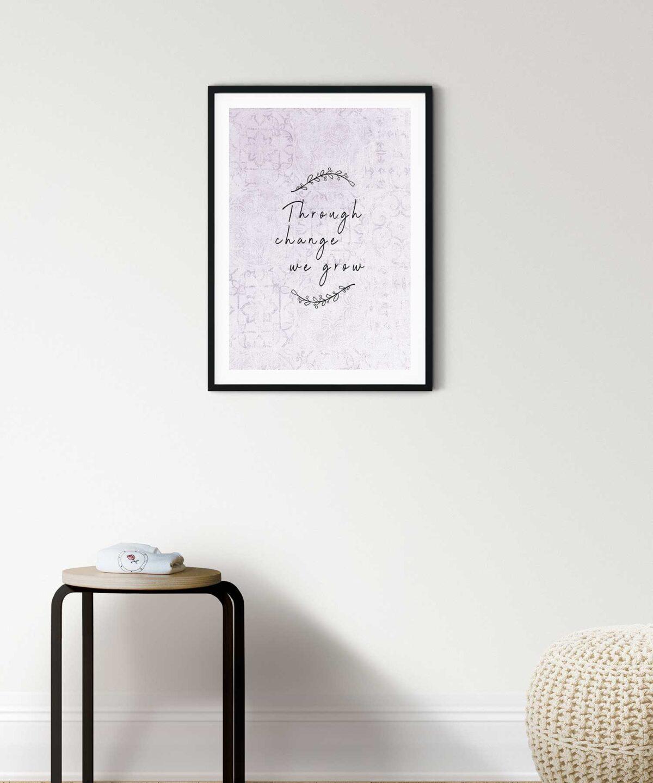 We-Grow-Poster-on-Wall-Black-Framed-Duwart