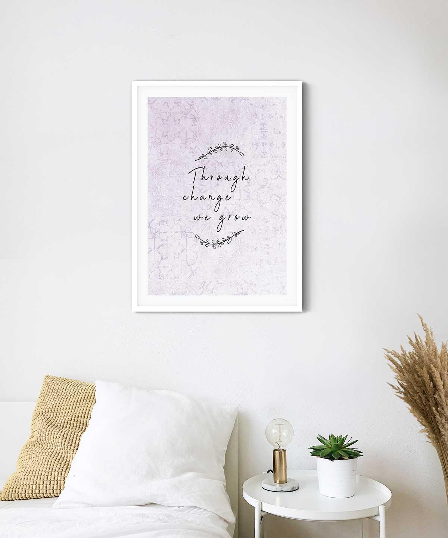We-Grow-Poster-on-Wall-White-Framed-Duwart