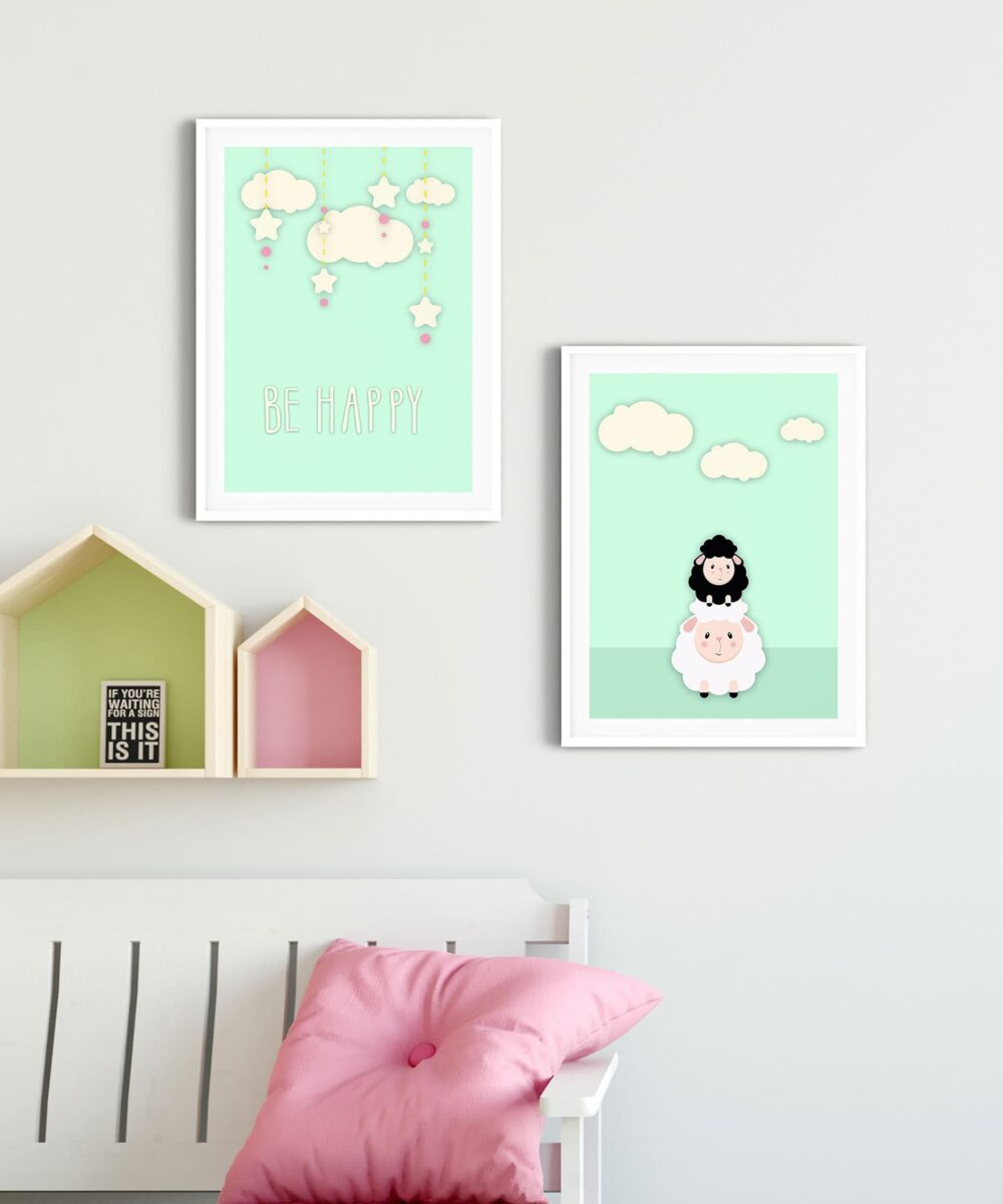 Mama-&-Baby-Sheep-Poster-Set-Duwart