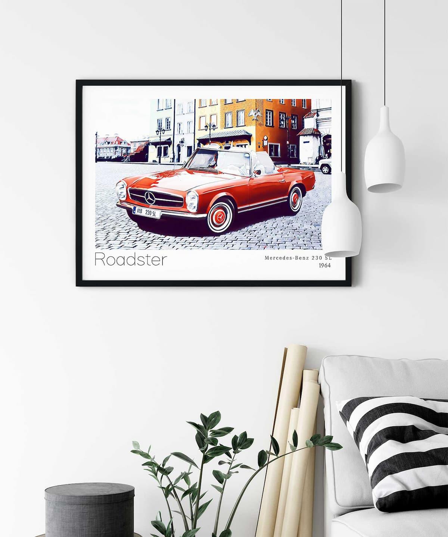 Roadster-Poster-on-Wall-Duwart