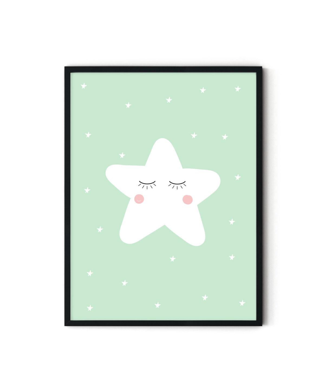 Sleepy-Star-Poster-Duwart-Green