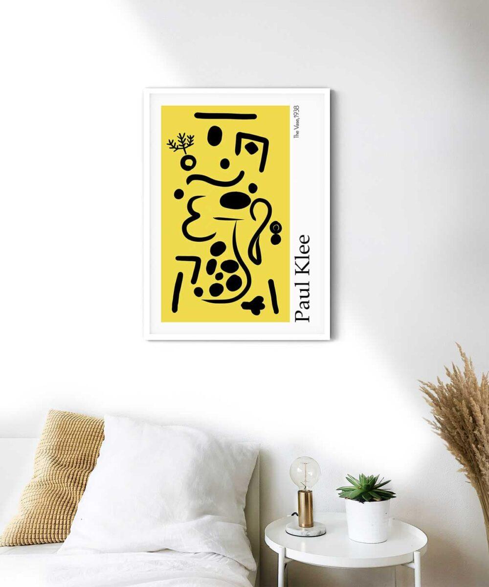 Vase-Poster-White-Framed-Duwart