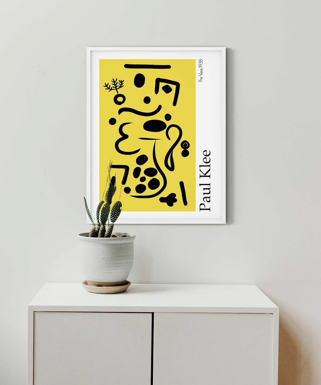 Vase-Poster-on-Wall-White-Framed-Duwart