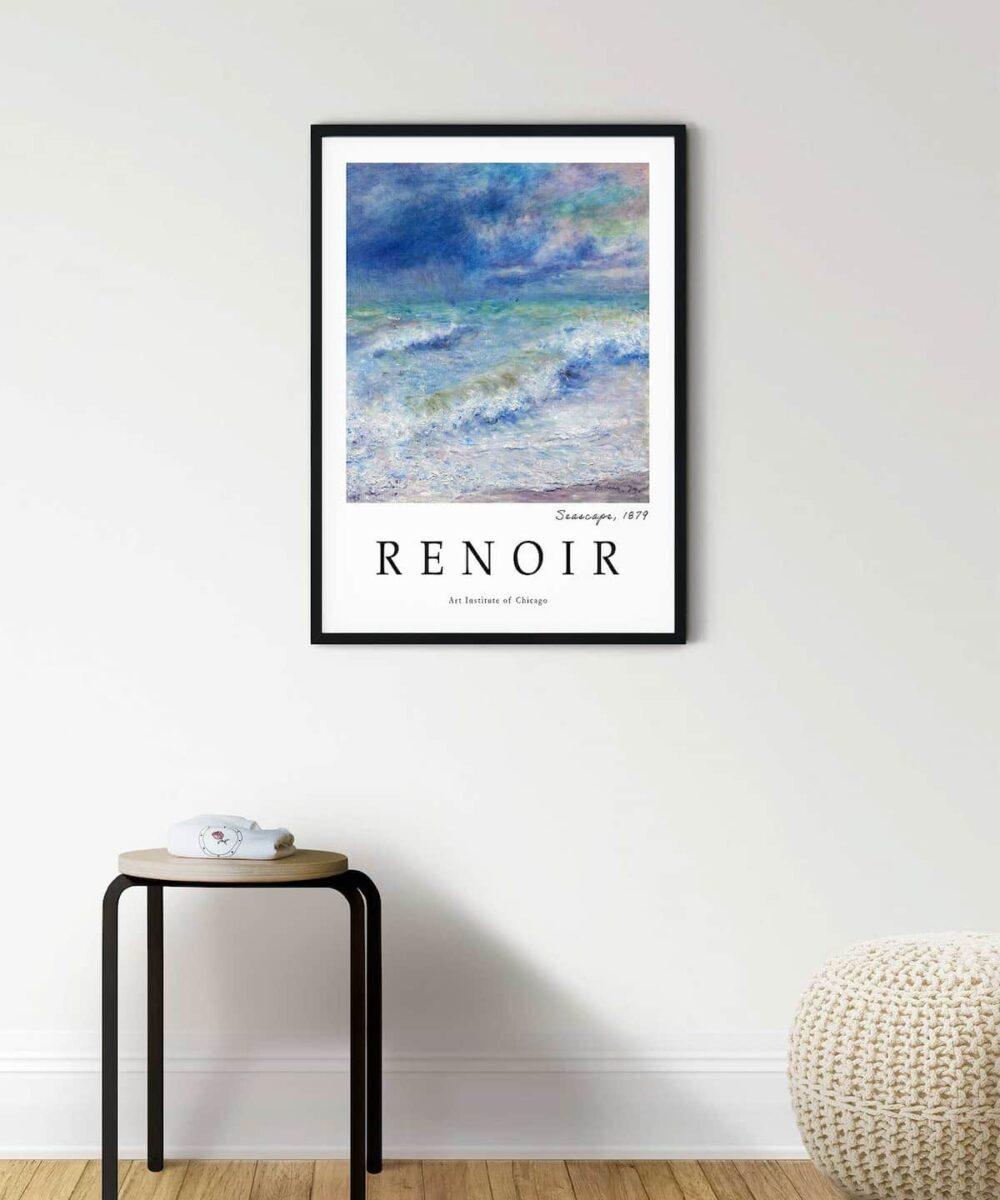 Auguste-Renoir-Seascape-Poster--Black-Framed-DUWART
