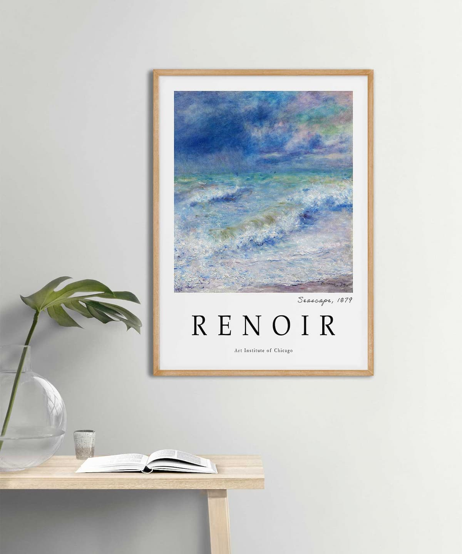 Auguste-Renoir-Seascape-Poster-Wooden-Frame-Duwart