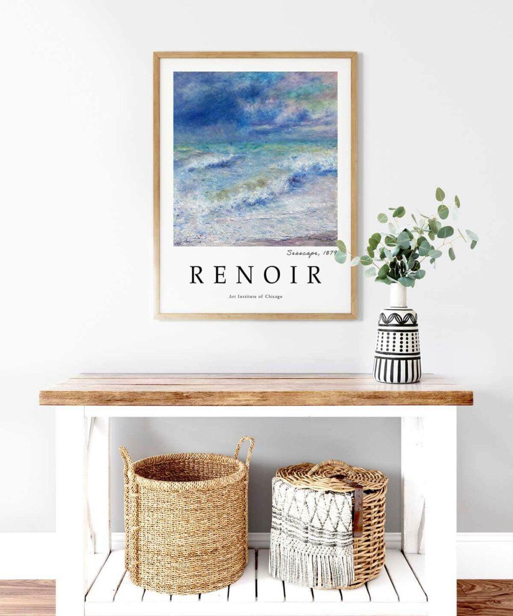 Auguste-Renoir-Seascape-Poster--Wooden-Framed-on-Wall-Duwart