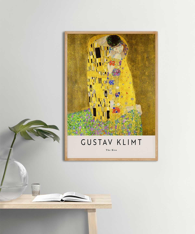 Gustav-Klimt-The-Kiss-Poster-Wooden-Frame-Duwart