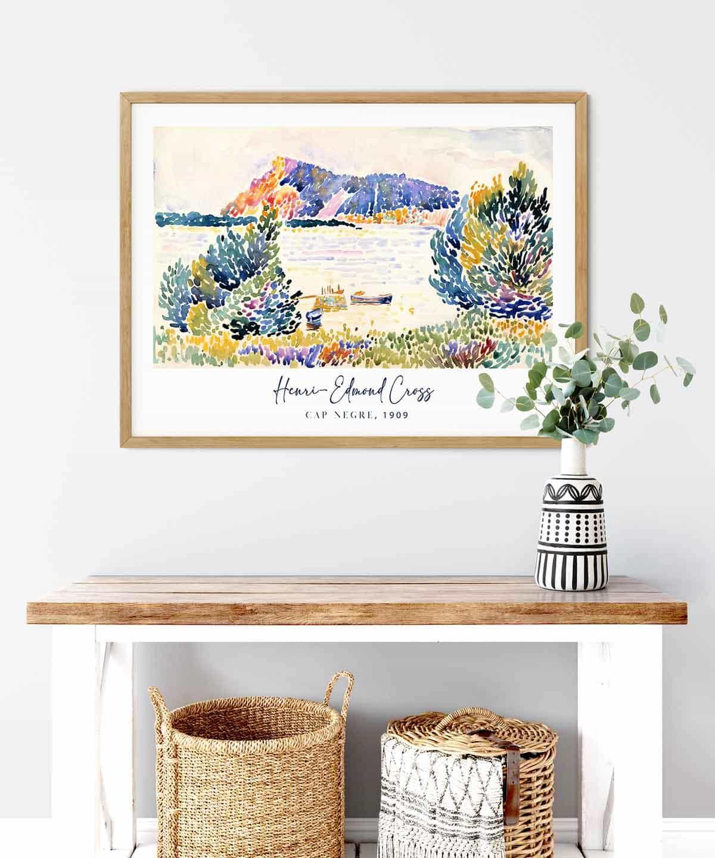 Henri-Admond-Cross-Cap-Negre-Wooden-Framed-Duwart