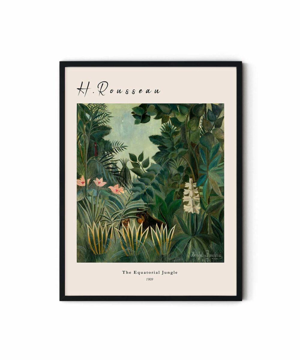 Henri-Rousseau-The-Equatorial-Jungle-Poster-DUWART